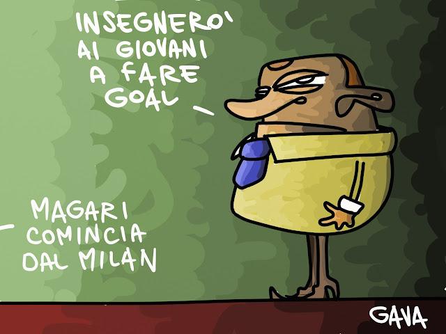 Gava Satira Vignette Berlusconi Milan