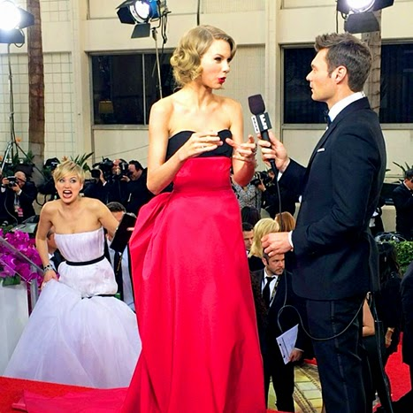 Taylor Swift Jennifer Lawrence Ryan Seacrest randommusings.filminspector.com