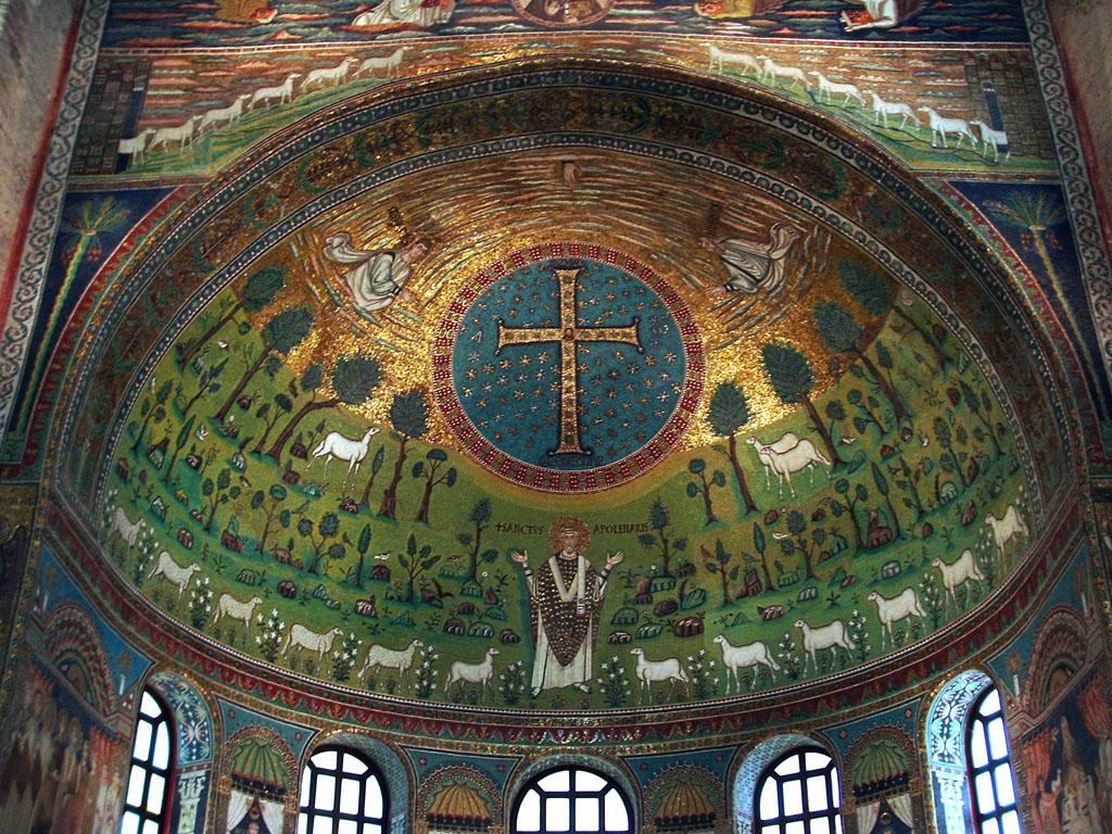 Risultati immagini per sant'apollinare in classe mosaici
