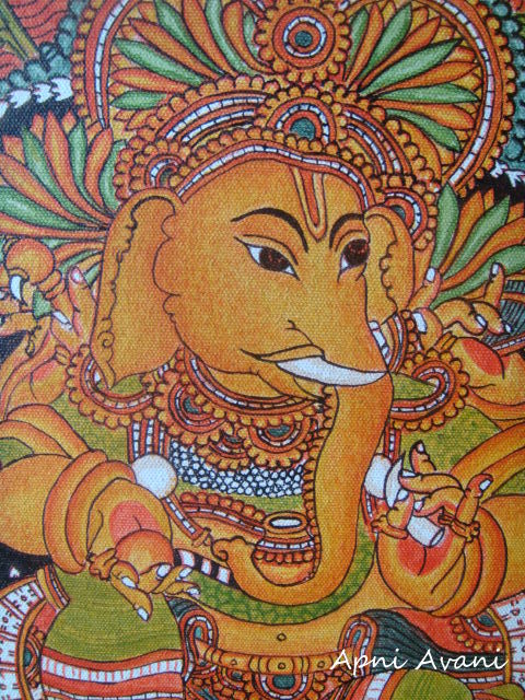 Apni avani the making of my kerala mural for Mural art of ganesha