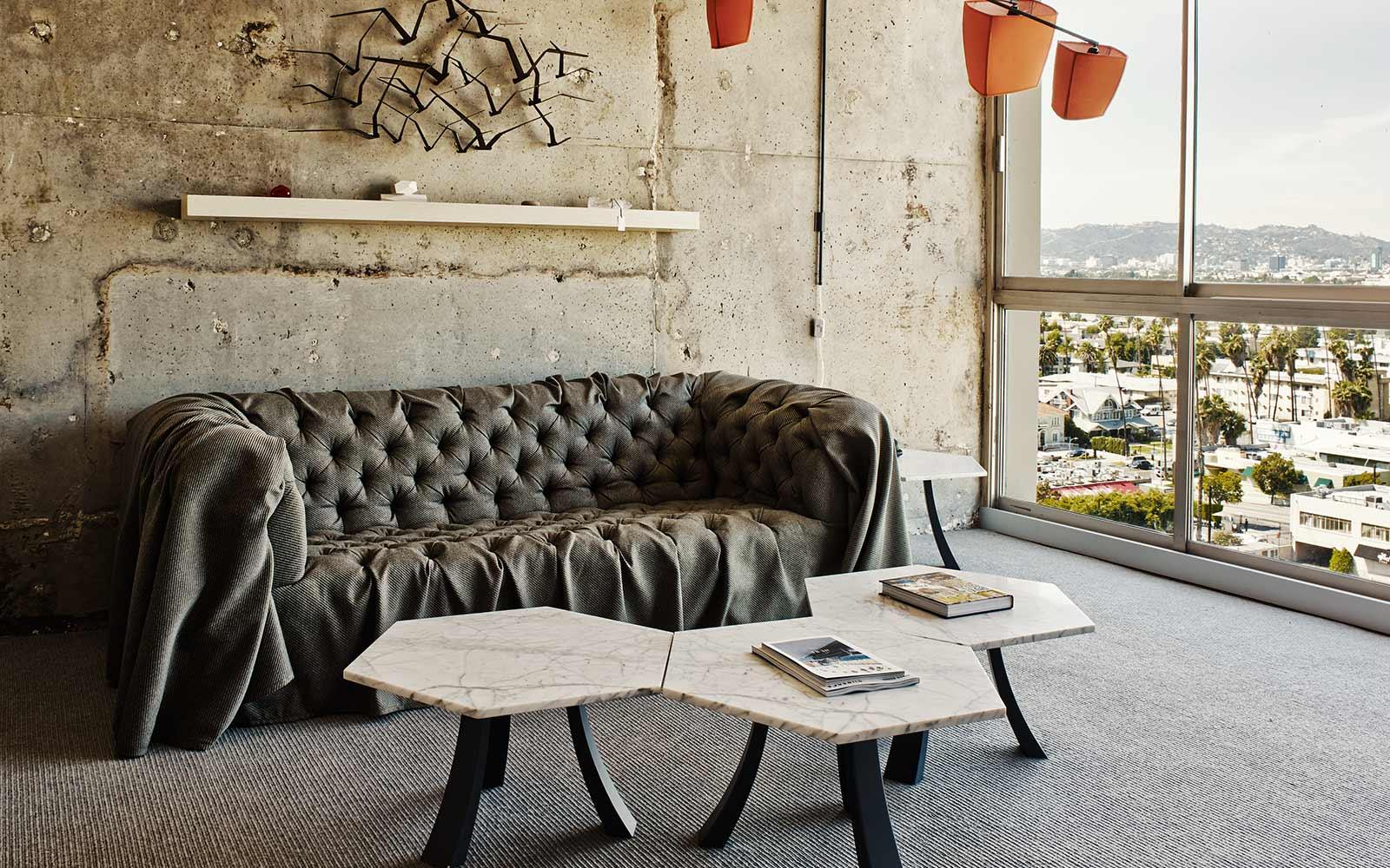 california interior style – the line hotel | design seeker