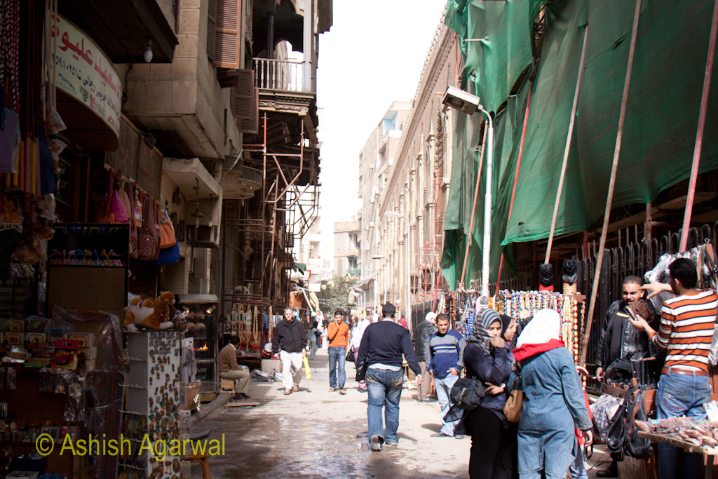 Khan el Khalili market in Cairo - a wider part of the market