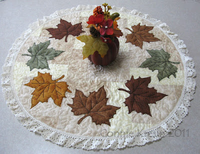 Maple Leaf Table Topper at Freemotion by the River