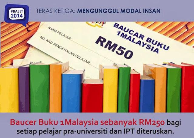 Syarat Kelayakan Baucar Buku 1Malaysia (BB1M) 2014