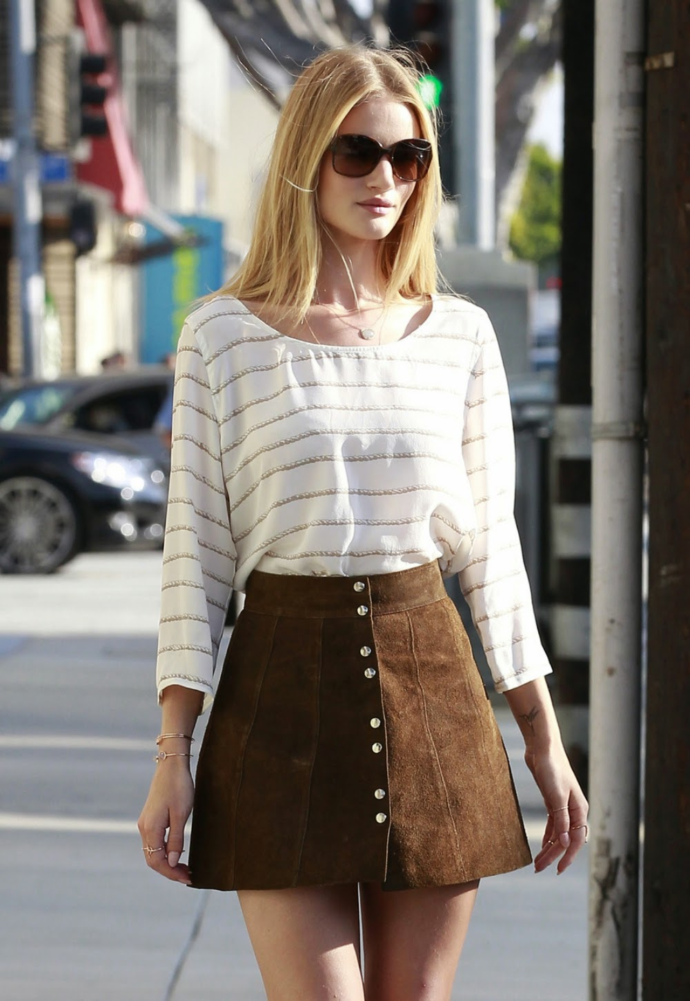 Style Inspiration: 70s Button-Front Skirts