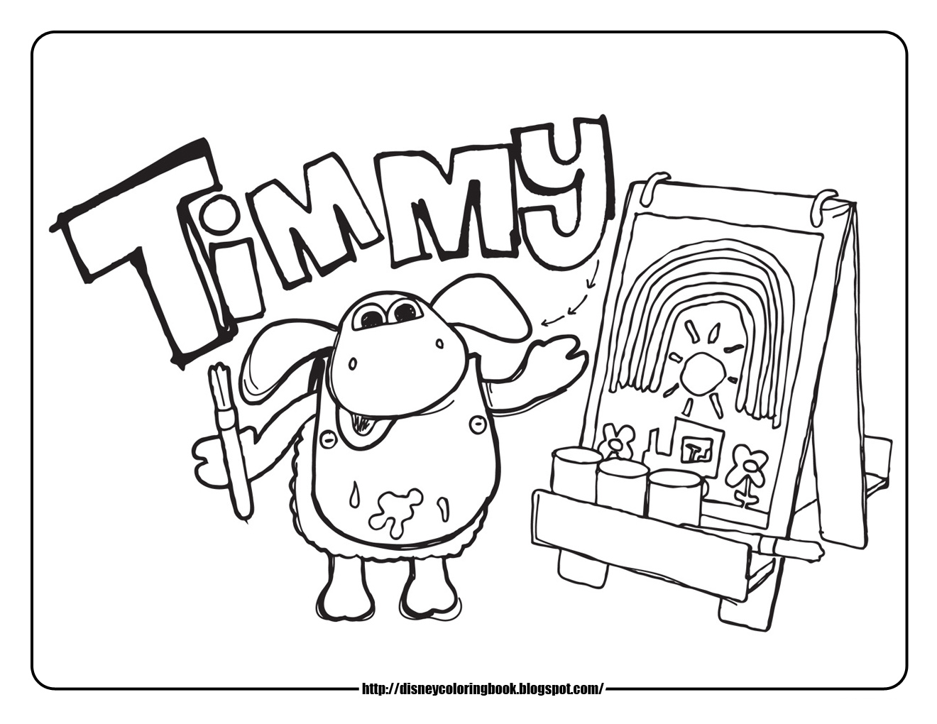 disney coloring pages and sheets for kids  timmy time 1