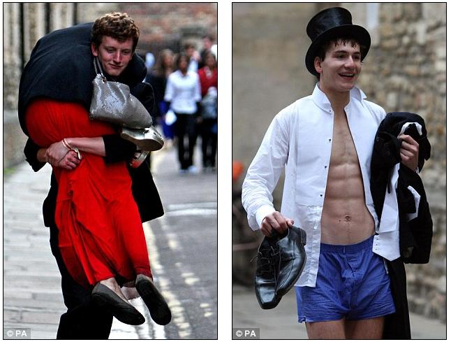 The passing-out ball: End-of-year celebrations prove a little TOO much for some Cambridge students