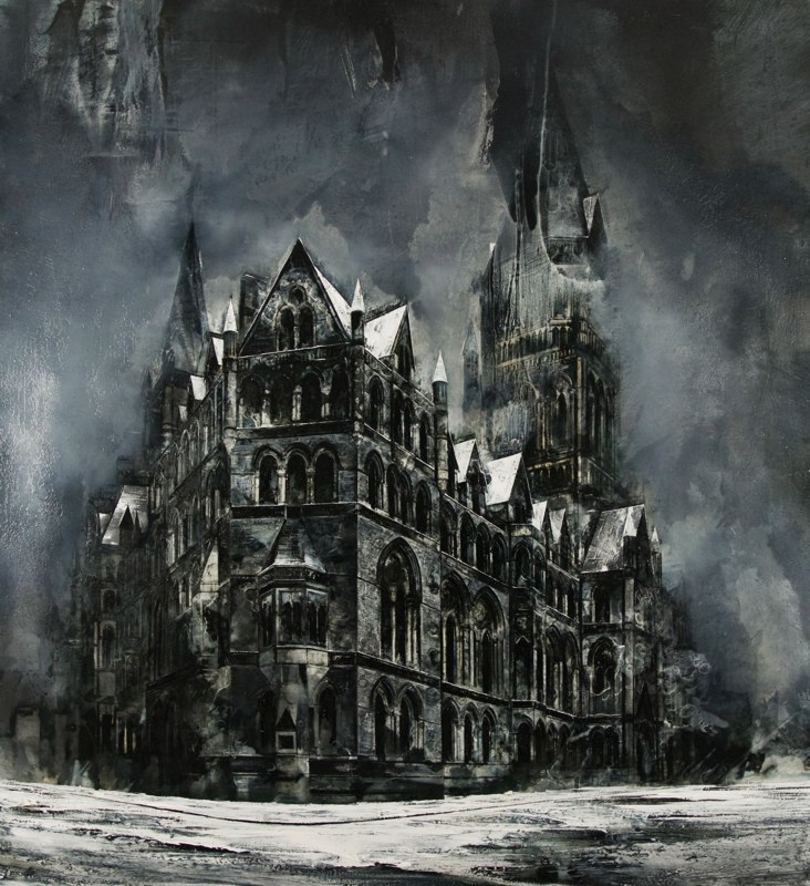 20-Wood-Metal-Bone-Mark-Thompson-Austere-and-Desolate-Cityscapes-Paintings-www-designstack-co