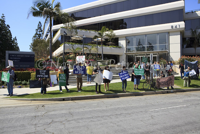 climate change rally, protest against keystone XL pipeline, el segundo, protest at John Hancock life insurance CO