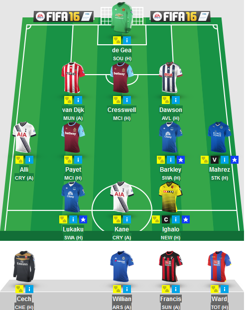 The Blogger's Team for Gameweek 23 in Fantasy Premier League