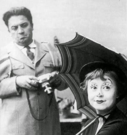 Giulietta Masina y Federico Fellini
