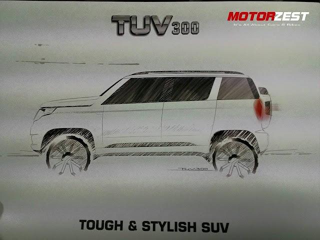 Mahindra TUV300 SUV code named U301