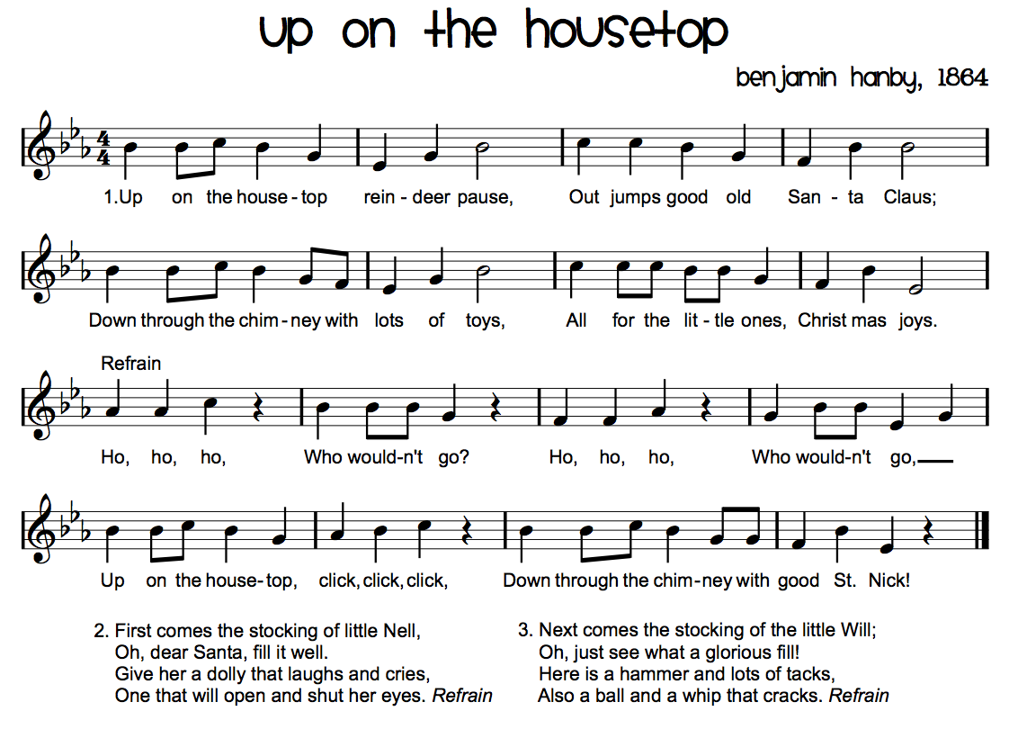 Winter sing along beth 39 s notes for Top ten house music songs