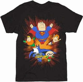 Click here to purchase your Family Guy Super Crew t-shirt at Amazon!
