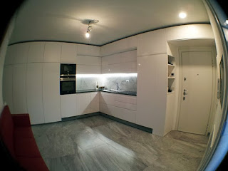 Immagine complessiva della cucina-soggiorno