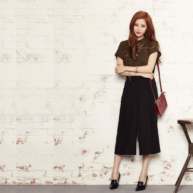 Seohyun's Mixxo Green Short-sleeved blouse collar roll