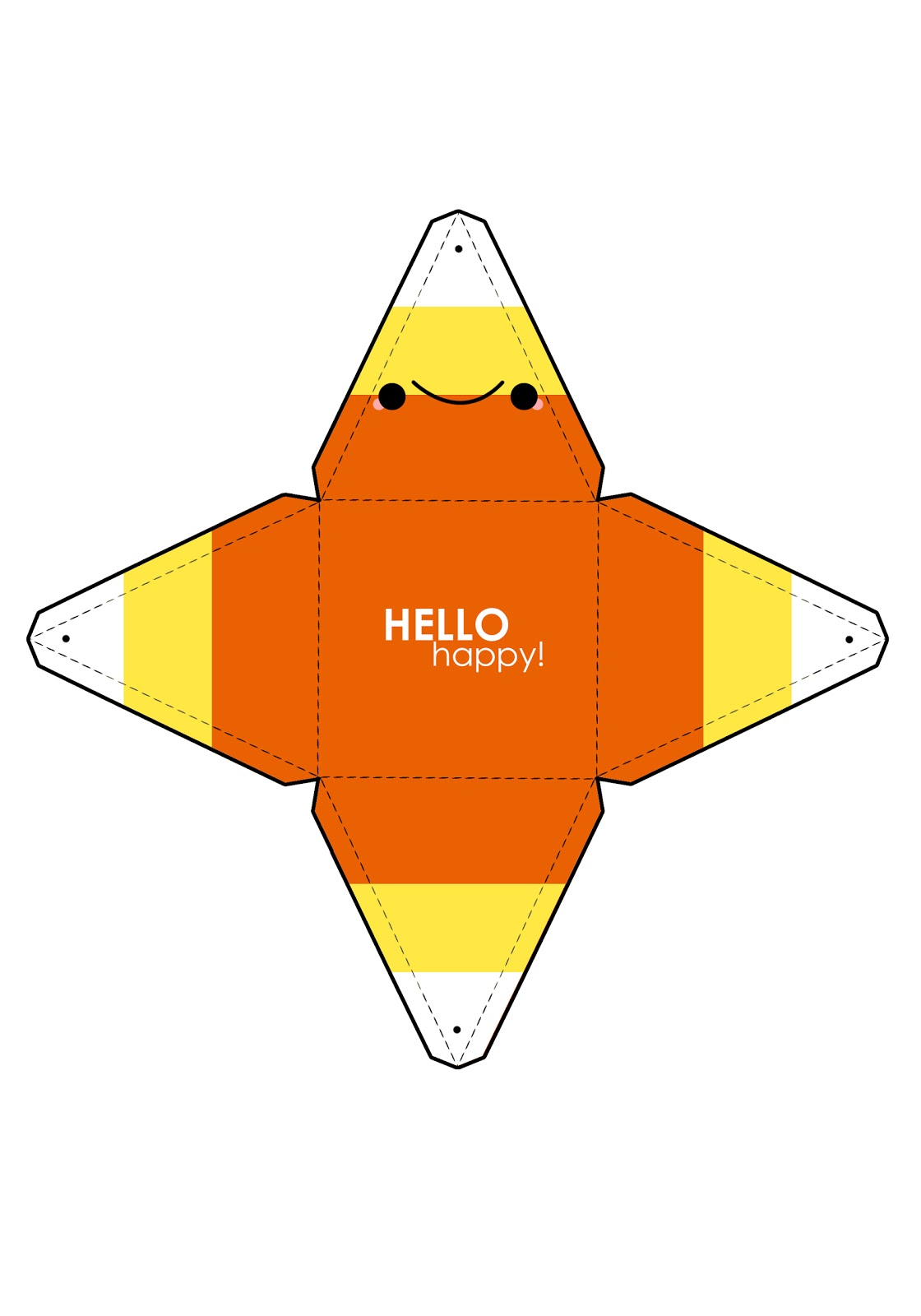 Adaptable image in candy corn template printable