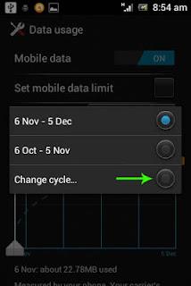 Membatasi lalu lintas data pada Xperia