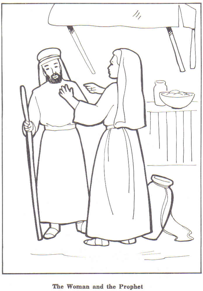 Bible story coloring pages naaman for Elisha coloring pages