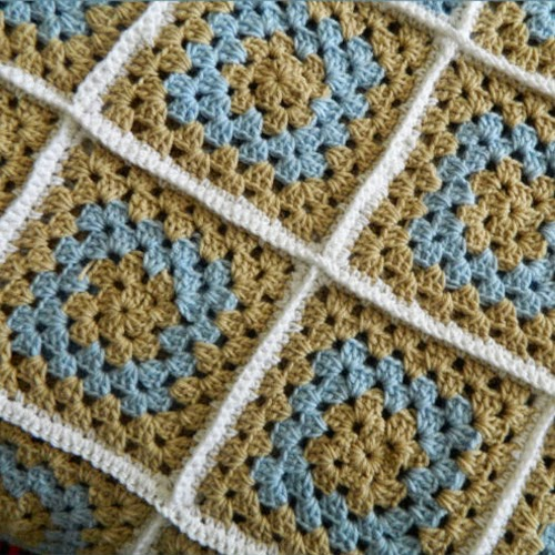 Modern Traditional Granny Square Blanket