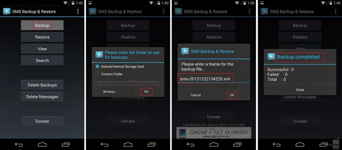 Backup-daten Android Terbaik Saat