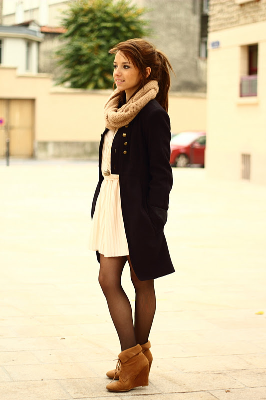 Dresses tights booties...perfect outfit!