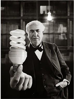 edison lampadina : Edison con una moderna lampadina
