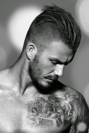 David beckham short slick back hairstyle