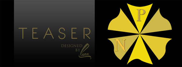 teaser for header, gold header, black header, elegant header