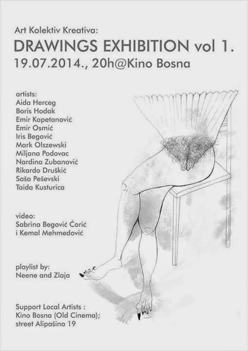 Art Kolektiv Kreativa: Drawings Exhibition vol 1. – Kino Bosna (Old Cinema), Sarajevo
