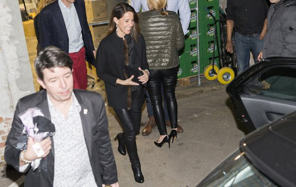 Prince Joachim and Princess Marie of Denmark was seen with friends at a nightclub in Copenhagen