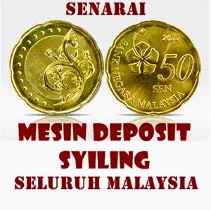 Senarai Mesin Deposit Syiling Seluruh Malaysia