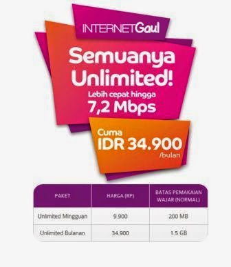 Cara Daftar Paket Internet Gaul Unlimited Murah Dari AXIS