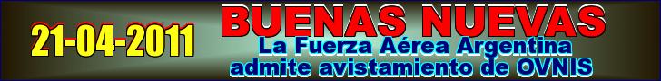 La Fuerza Aérea Argentina admite avistamiento de OVNIS