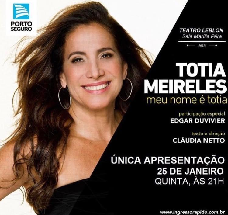 SHOW ''MEU NOME É TOTIA''