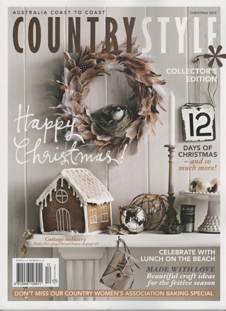 Tracie ellis design country style christmas issue for Country chic christmas