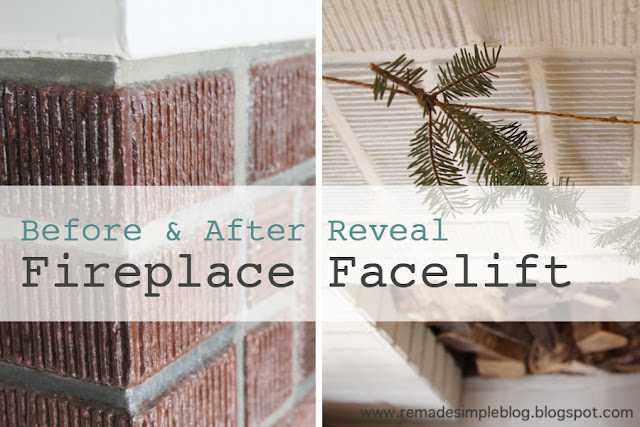 ReMadeSimple: Fireplace Facelift: Before & After