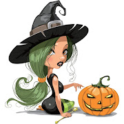 3. Free Vector Sexy Witch Girl with Halloween