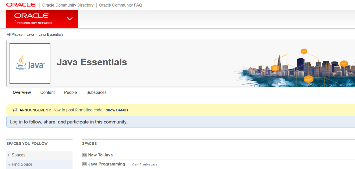 Official Java forum from Oracle