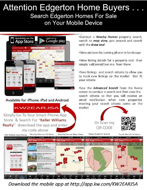 View Edgerton Homes for sale on your mobile phone