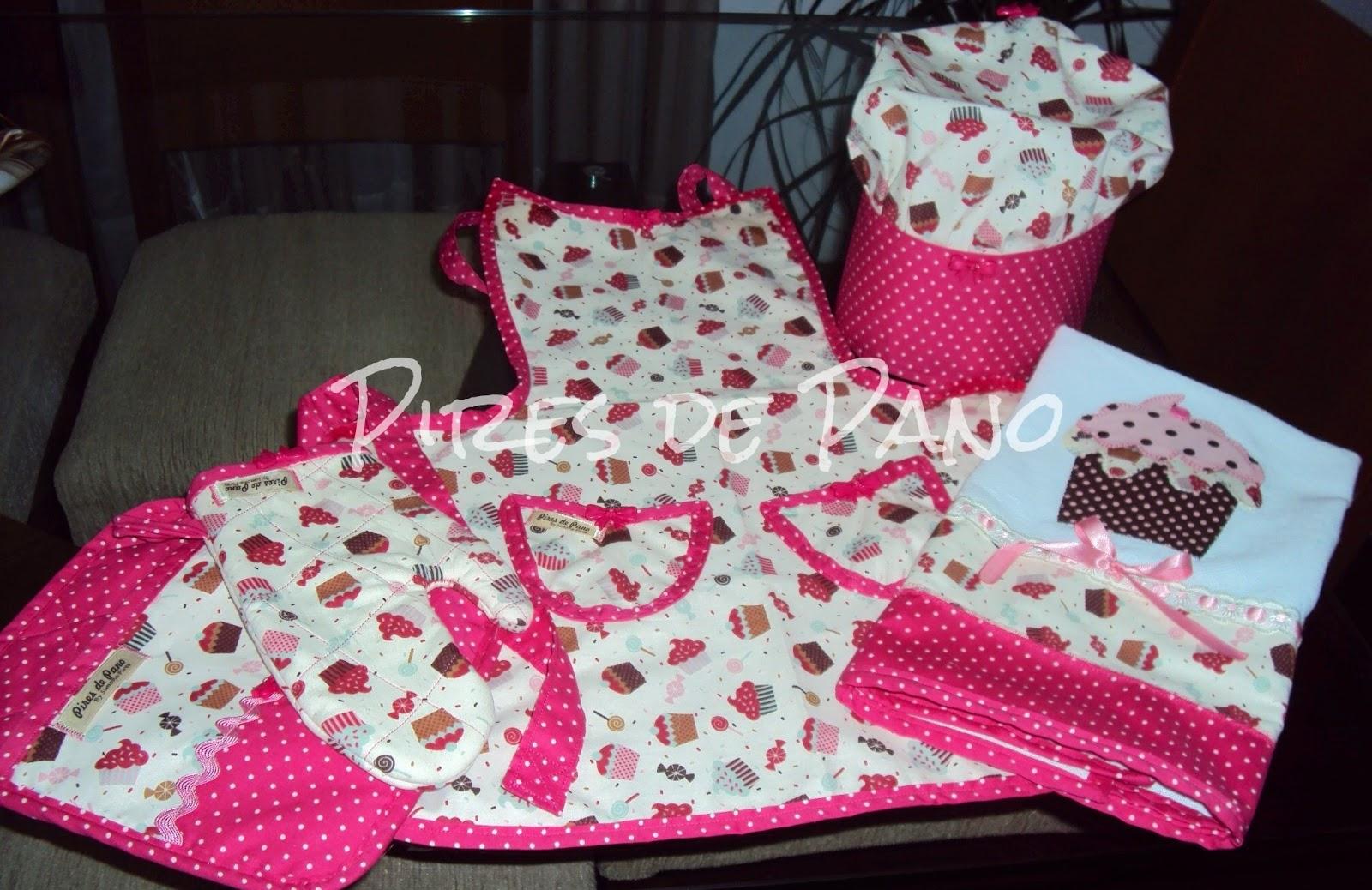 kit decoracao cozinha:PIRES DE PANO: Kit de cozinha infantil