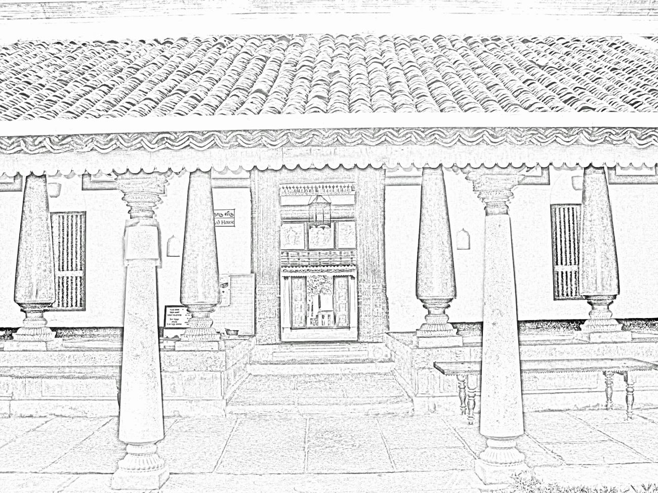 Stock Pictures: Sketches of traditional Indian houses