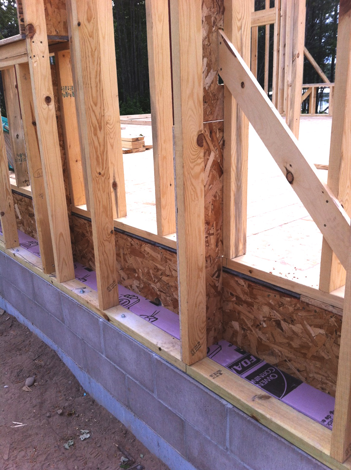 Double Stud Wall Construction : The bldgtyp foundation thermal bridging