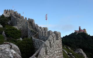 Castillo dos mouros en Sintra, Lisboa