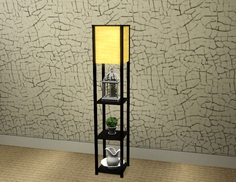 my sims 3 blog floor lamp with shelves by cmo. Black Bedroom Furniture Sets. Home Design Ideas