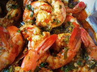 Spicy Cilantro Garlic Shrimp