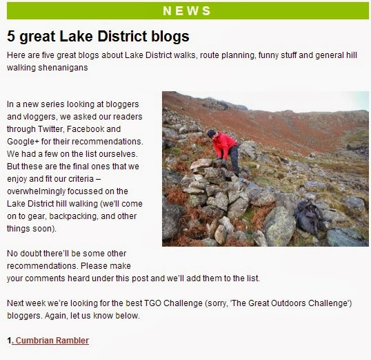 No 1 Lake District Blog!
