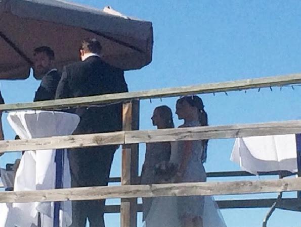 Princess Sofia and Sara were their sister's bridesmaids.