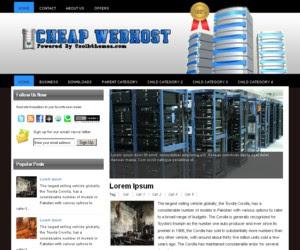Cheap Webhost Blogger Template