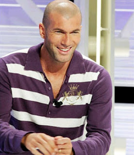 Zinedine Zidane attending an interview